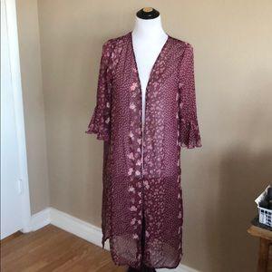 NWT Cravefame Medium Wine Kimono